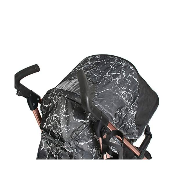 My Babiie Dreamiie by Samantha Faiers MB51 Black Marble Stroller My Babiie Suitable from birth to maximum 15kg Extendable 3 position canopy Lockable swivel front wheels 8
