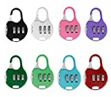ZPLIUST 3 Digit Combinations Padlock the Safe Cipher Lock Resettable Code Lock , Color Locks (7Pack)