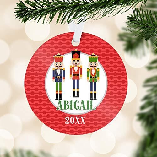 Alicert5II Notenkraker ornament rode punten notenkraker vakantie decor winter groen notenkraker gepersonaliseerde kerstbal kinderen naamgeschenk
