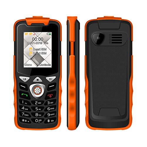 Teléfono móvil personas mayores, teléfono móvil doble SIM y doble modo espera, teléfono móvil personas mayores 600 mAh, linterna potente, altavoz grande, botones grandes, tiempo espera prolongado