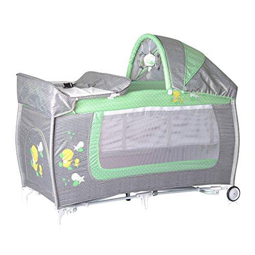 Lorelli 10080371818 Lit Parapluie + Mode Lit à Bascule Danny 2 Vert