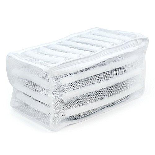 Hangerworld 3 Gepolsterter weißer 32x17x16cm Waschbeutel für Sportschuhe Turnschuhe