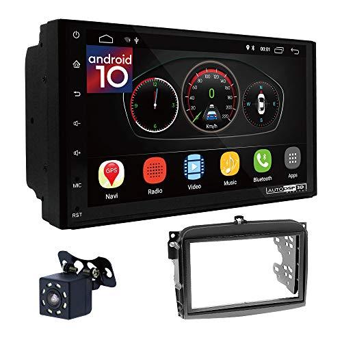 UGAR EX10 7' Android 10.0 DSP Navigazione GPS per Autoradio + 11-550 Kit di montaggio compatibile con FIAT (500L) 2012-2017