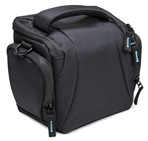 Foto-Tasche klein schwarz - passend für Canon PowerShot SX530 SX540 SX740 HS, Nikon Coolpix L330 L340 L840 B500 B600, PANASONIC Lumix DC-LX100 II