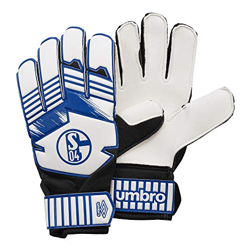 FC Schalke 04 - Guantes de portero (talla M), color blanco y azul