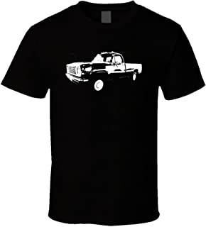 1976 Dodge Power Wagon Side View Dark T Shirt