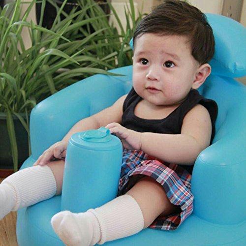 Seduta di sicurezza gonfiabile per bambini, per il gioco e il bagnetto, Multifunzionale, per i pasti, seggiola gonfiabile portatile