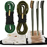 SEBIDER Universal Gun Cleaning Kit for Pistol Rifle .22.357.38.380, 9mm Caliber with Bore Snakes/Cleaning Brushes/Swabs/Patches and Compact Bag