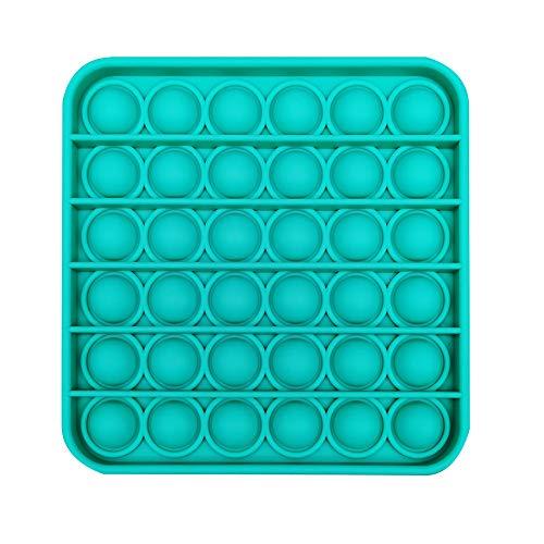 Square-Purple Push Bubble Sensory Fidget Round Color Autism Needs Squeeze Sensory Stress Reliever Toy for Kids Adults Sensory Push Pop It Fidgets Pop It Fidget Toy