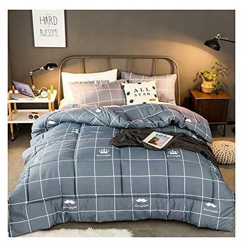 GELing Bettwäsche Set Polyester-Baumwolle Bettbezug-Set Einzelbett Doppelbett ,Farbe 4,200cm 3.5kg230cm 3kg