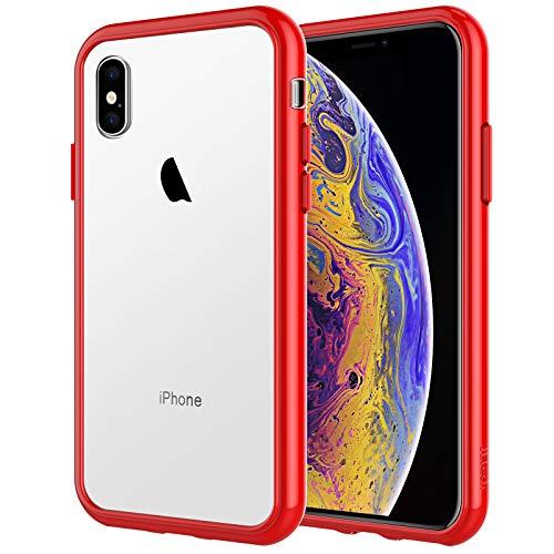 JETech Coque Compatible iPhone XS et iPhone X, Étui de Protection avec Shock-Absorption et Anti-Rayures, Rouge