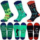 Belloxis Golf Geschenke für Manner, 3 Paare Golf Socken Lustige Bunte Socken Herren Wenn Du Das Lesen Kannst Socken