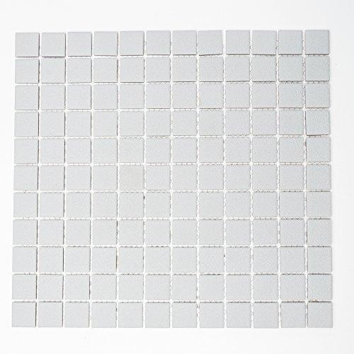 Piastrelle Mosaico Mosaico Piastrelle da cucina in ceramica quadrato tinta unita grigio Bad 6mm nuovo R10# 249