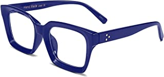Classic Oprah Square Eyewear Non-prescription Thick Glasses Frame for Women B2461