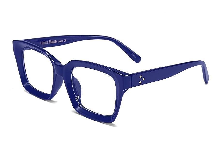 FEISEDY Classic Oprah Square Large Eyewear Non-prescription Thick Glasses Frame for Women B2461