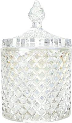 ガラス容器 小物入れ 蓋付き インテリア キャニスター ボックス コットンケース 綿棒入れ 透明