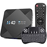 Android 10.0 TV Box H40 Android Box Allwinner H616 Quad-Core Dual WiFi 2.4G/5G Ethernet Bluetooth 5.0 Support 3D 6K Ultra HD Smart TV Media Box with Mini Wireless Keyboard