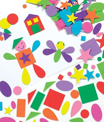 Baker Ross Selbstklebende Schaumstoff-Formen zum Basteln für Kinder - Aufkleber ideal als Dekoration und für Figuren - 180 Stück