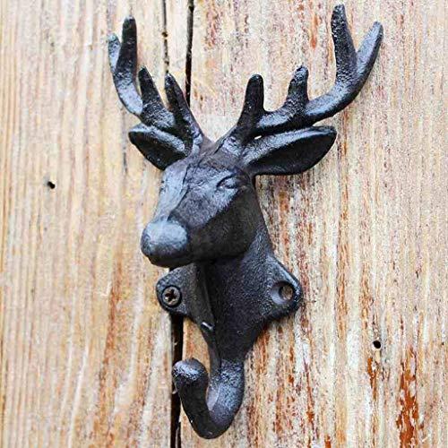 LWCLYC Creative Retro Hat Hook Antlers Deer Head Wall Dercoration Wall Decoration Decorative Hook Home Storage Kit