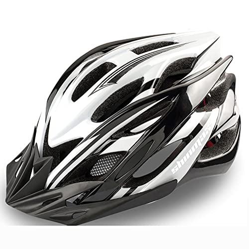 KINGLEAD Fahrradhelm Herren mit LED-Licht und abnehmbarem Visier, Unisex-Geschützter Fahrradhelm für Radrennen Outdoor Sicherheit Superleicht Damen Einstellbar CE-Zertifikat