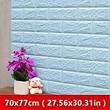 satisl Hintergrundbild 70x77cm 3d stein ziegel Pe schaum tapete poster wandaufkleber sicherheit wanddekoration wohnzimmer eisblau