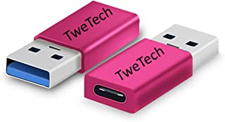 TweTech USB Type-C (Female) to USB A (Male) Adapter, OTG, USB-C Converter, Compatible with Smartphone, Tablet, Laptop, And...