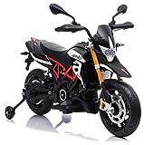 giordanoshop Moto Elettrica per Bambini 12V Aprilia Dorsoduro Nera
