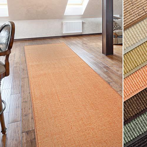 casa pura Sisal Teppich Läufer | Uni Terra | Naturfaser | Qualitätsprodukt aus Deutschland | kombinierbar mit Stufenmatten | 19 Breiten und 18 Längen (80 x 250 cm)