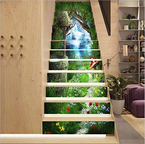 Diy Creativo 3D Tridimensional Simple Cuento De Hadas Mágico Escaleras Escaleras Pasos...