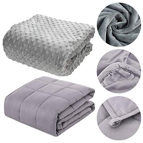 TolleTour Gravity TherapieDecke Gewichtsdecke Schwere Decke für Erwachsene, Jugendliche für besseren Schlaf 100x150 cm, 3 kg,inkl. Sommerbezug…