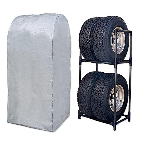 アイリスオーヤマ タイヤラック カバー付 RV車 幅71×奥行45×高さ144 耐荷重 120kg KTL-710C ブラック