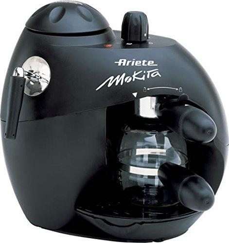 Ariete Moka Aroma Espresso Máquina espresso 300L 4tazas Negro - Cafetera (Máquina espresso, 300 L, De café molido, Negro)