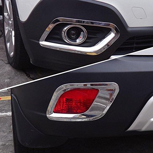 ABS Chrom vorne + hinten Nebel Lampe Verkleidung 4 Für Mokka 2013 2014 2015