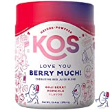 KOS Organic Reds Blend Supplement - Superfood Antioxidant Powder - Natural Plant-Based, Delicious Vegan Juice Drink - Digestive Enzymes, Beet Root, Goji Berries - Daily Energy Booster - 45 Servings