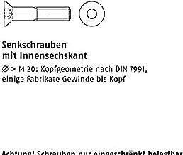 verzonken schroeven ISO 10642 08.8 M 6 x 10 galv. verzinkt geel chroom. gal ZnC VE = S 500 stuks
