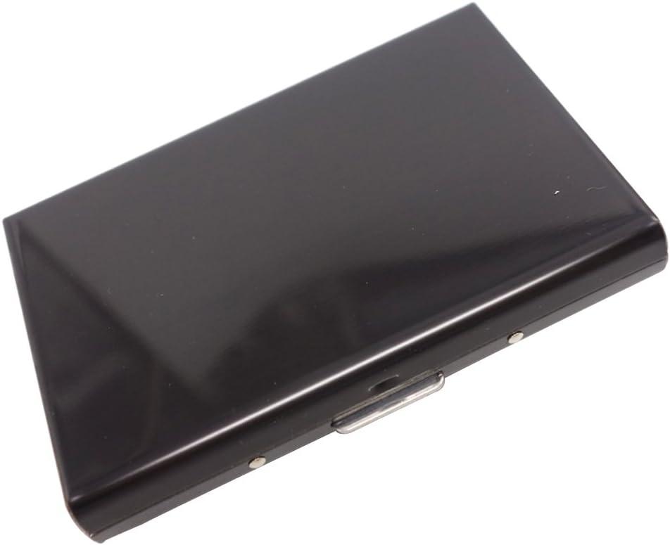 NiftyPlaza Credit Card ID Holder Slim Money Travel Wallet Men Stainless Steel RFID Blocking (Black)