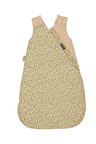 Odenwälder Jersey-Thinsulate Schlafsack, Kinderschlafsack längenverstellbar, Leichter Schlafsack atmungsaktiv, Größe:70, Design:Leo natur
