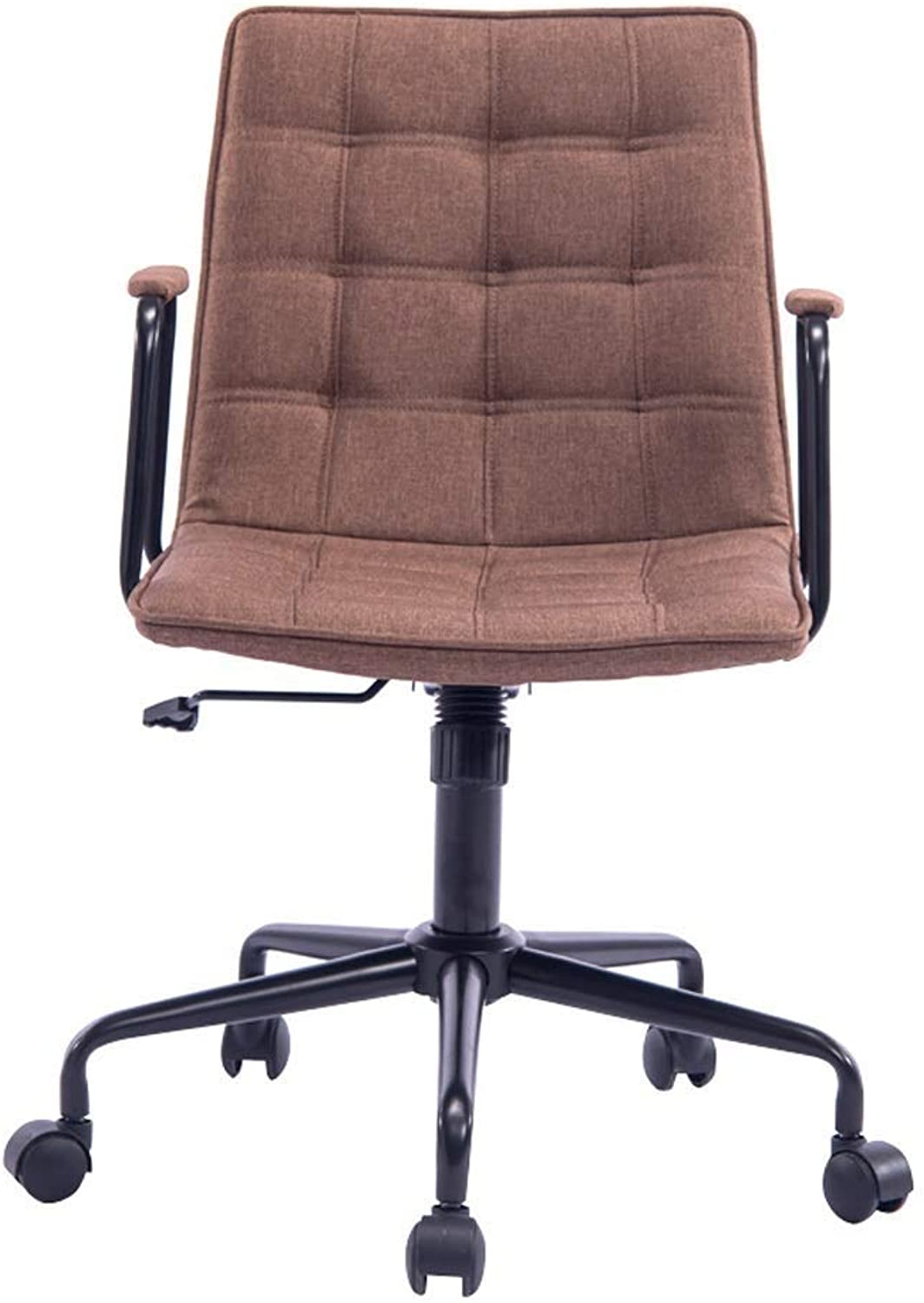 A-Lnice Stylish Computer Desk Chair Adjustable Gas Lift Stool Home Office Study Room Furniture with Padded Armrests (color   Khaki, Size   B)