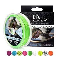 M MAXIMUMCATCH Maxcatchバッキングライン フライフィッシング用100yard(約90m) 20/30lb セット(ホワイト、イエロー、オレンジ、ブラック&ホワイト、ブラック&イエロー) (グリーン, 20lb(300ヤード))