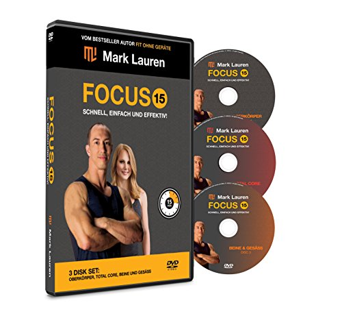 Körpergewicht Workout DVD | MARK LAUREN Fokus 15 | Die ultimativen Übungsvideos für Beine, Gesäß, Gesamtkern und Oberkörper [Deutsch]