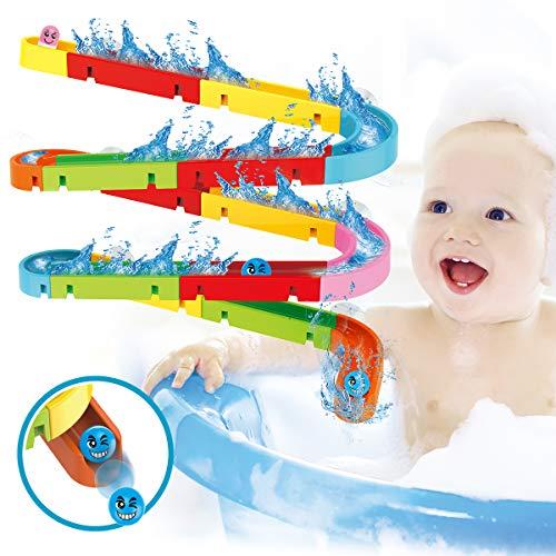 Buyger Kugelbahn Bausteine Badewannen Badespaß Spielzeug Badespielzeug Wasserspielzeug im Badewanne Wasserspiel für Baby und Kleinkinder