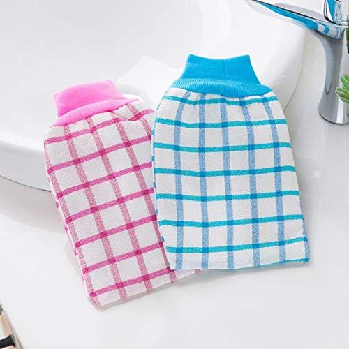 Anaric-Tih Veiligheid Nuttige Plaid Veeg Back Handschoenen Bad Handschoenen Wrijf Bad Handdoek Dikke Bad Wrijf Terug Handdoek voor de gezondheid reinigen