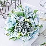 Stephen nórdico belas Flores artificiais Noiva segurando buquê de Casamento híbrido Seda Grandes Flores Falsas para Festa em casa decoração de Mesa - by 1 PCs