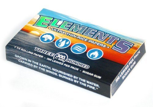 ELEMENTS 300 Ultra Thin Rice Rolling Paper 1.25 1 1/4 Size, 1 Pack = 300 Leaves