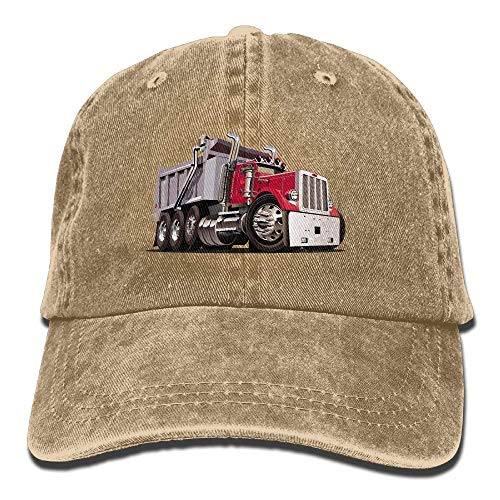 Preisvergleich Produktbild Presock Cartoon Cool Dump Truck Washed Denim Retro Snapback Baseball Hat Cowboy Style Cap Unisex Trucker Hats.