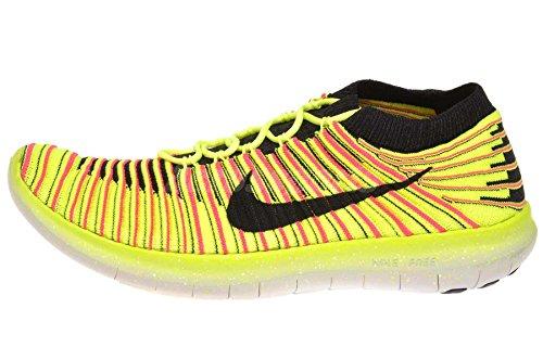 Nike Free RN Motion Flyknit oc, Chaussures de Running Homme, Noir/Multicolore, 44...