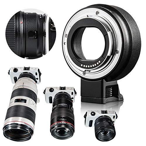 DAUERHAFT Anillo Adaptador de cámara de Enfoque automático Negro EF-EOS M AF Resistente al Desgaste, para Lente Canon EF EF-S para cámara sin Espejo Canon EOS M