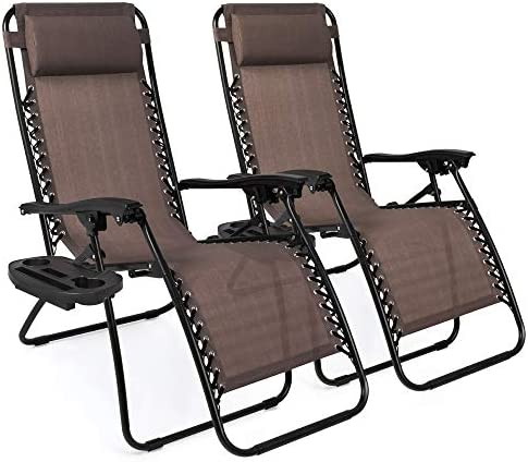 Best Choice Products Set of 2 Adjustable Steel Mesh Zero Gravity Lounge Chair Recliners w Pillows product image