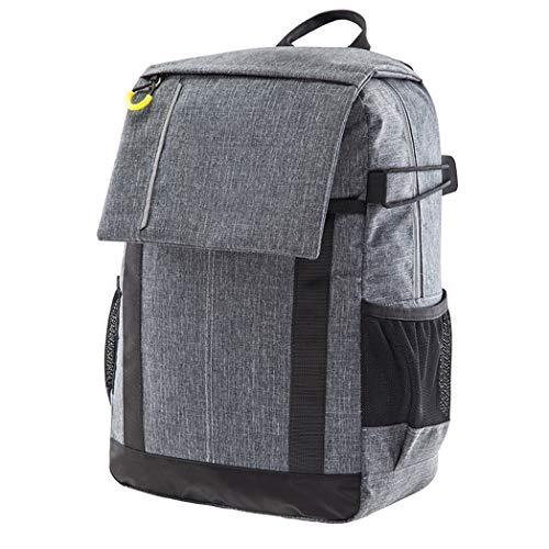 Kamerarucksack, Kameratasche Wasserdicht Stoßfest Mit Gepolsterten Spezialeinteilungen Fotorucksack für Objektive, Laptop, Stativhalter und DSLR-Kameras und Foto Zubehör, Grau, M001jc ( Color : Gray )