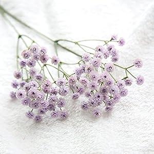 Fine Artificial Silk Fake Flowers Baby's Breath Floral Wedding Bouquet Party Decors Gypsophila Artificial Flower Fake Flower Purple (Purple)